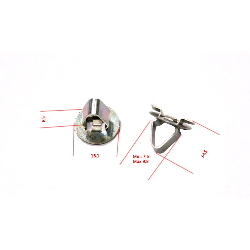10x metall clip befestigungsklammer f r opel citroen 4 90. Black Bedroom Furniture Sets. Home Design Ideas