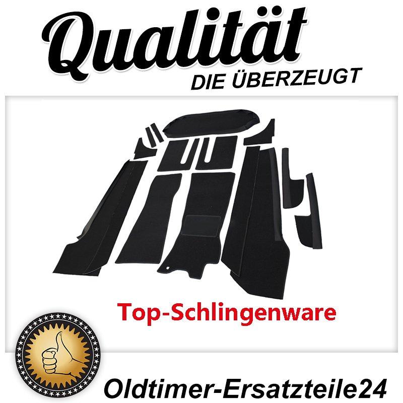 15 Teiliger Schwarzer Teppichsatz ( Teppich Schlingenware