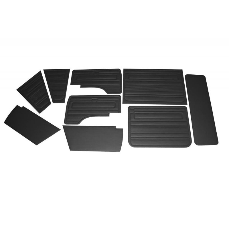 9 teiliges set innenverkleidungen schwarz f r vw bus t3 79. Black Bedroom Furniture Sets. Home Design Ideas