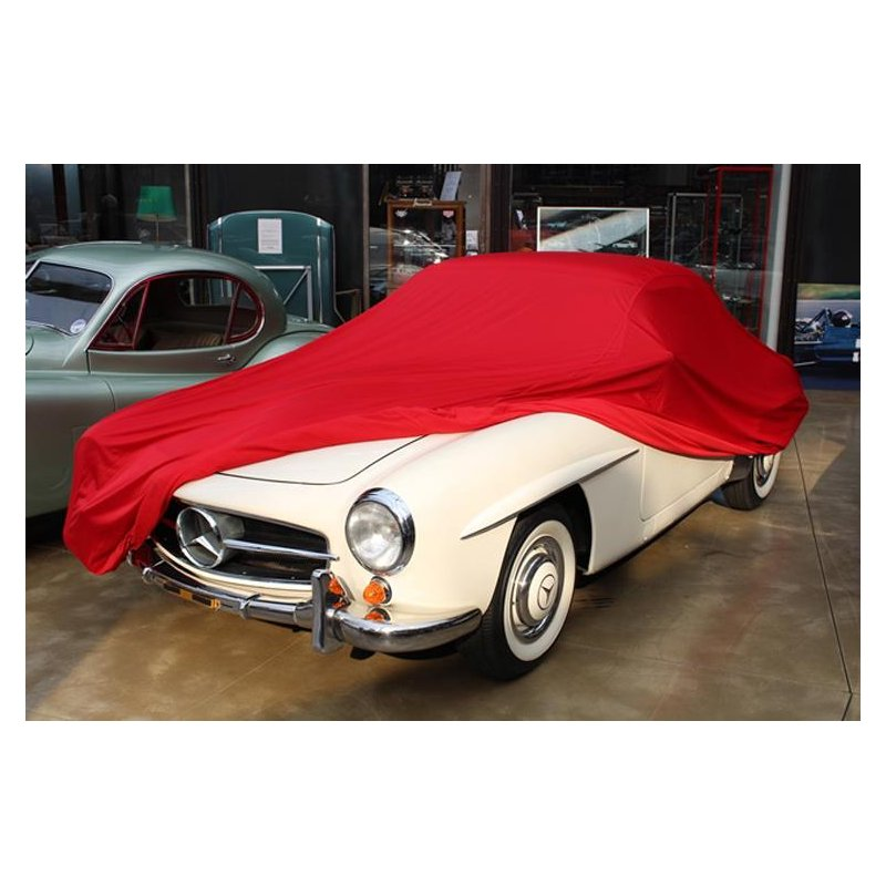 car cover satin red f r mercedes 190 sl oldtimer. Black Bedroom Furniture Sets. Home Design Ideas