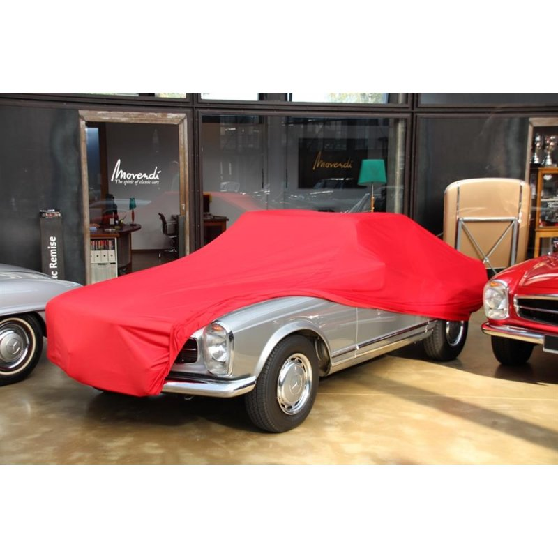 car cover satin red f r mercedes 230sl 280sl pagode. Black Bedroom Furniture Sets. Home Design Ideas
