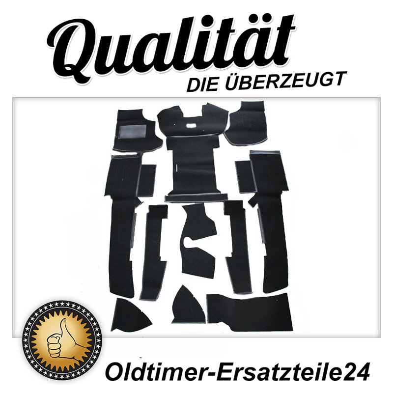 Schwarzer Teppichsatz (Teppich Schlingware) VW T3 Turbo