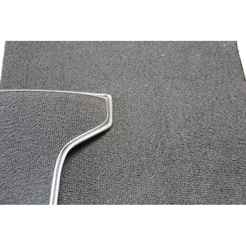schwarzer teppichsatz teppich schlingenware f r mercedes r107. Black Bedroom Furniture Sets. Home Design Ideas