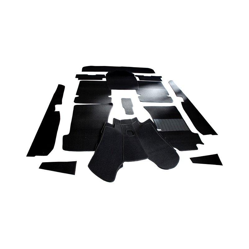 Schwarzer Teppichsatz ( Teppich Schlingenware) für