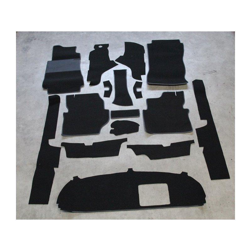 schwarzer teppichsatz teppich schlingenware f r mercedes w123. Black Bedroom Furniture Sets. Home Design Ideas