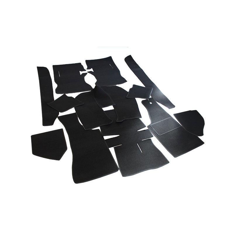 schwarzer teppichsatz teppich schlingenware f r opel manta a kun. Black Bedroom Furniture Sets. Home Design Ideas