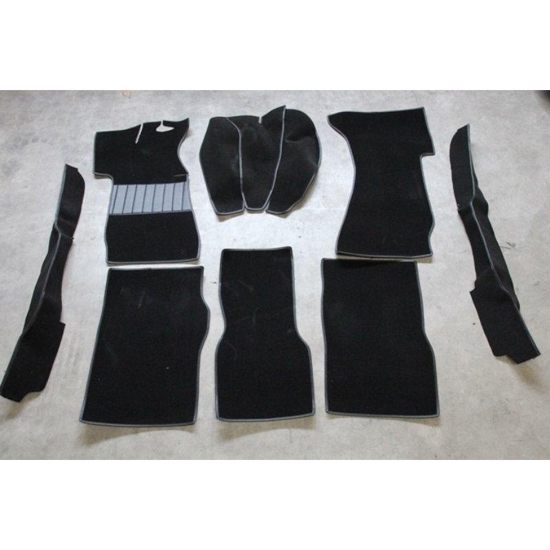 schwarzer teppichsatz teppich schlingenware f r opel rekord c. Black Bedroom Furniture Sets. Home Design Ideas