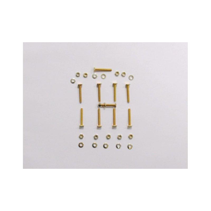 verzinktes m3 schrauben muttern set f r oldtimer zierleisten 12 9. Black Bedroom Furniture Sets. Home Design Ideas