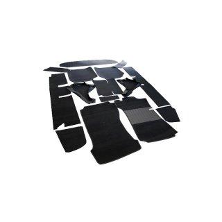 schwarzer teppichsatz teppich schlingenware f r mercedes w115 249. Black Bedroom Furniture Sets. Home Design Ideas