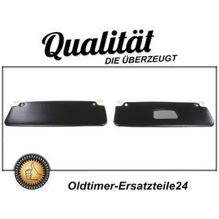 Bi-Color sun visor set for Opel Kadett C