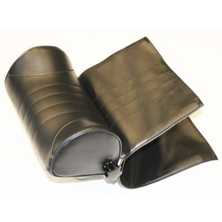 Black universal headrest for classic car