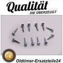 12 metal screws for Mercedes R107 bumper